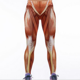 Muscle Print Pants Australia - Woman Sport Leggings Muscle Summer Plus Size Fitness Sportswear Leggings High Waist Workout Elastic Pants Hot-009.8
