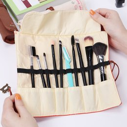 $enCountryForm.capitalKeyWord NZ - designer makeup bag Professional Cosmetic Brush Bag Roll Pouch Printing Toiletry Bags Canvas Make Up Bag 11 Slots