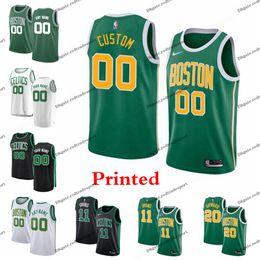3fd01b4efc4 Printed Boston City Celtic Jayson Tatum Marcus Smart Al Horford Rozier  Morris Hayward Kyrie Irving Jaylen Brown Edition Basketball Jersey