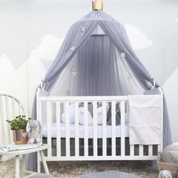 Cotton For Babies Australia - Naturelife Round Baby Bed Mosquito Net Dome Hanging Cotton Bed Canopy Mosquito Net curtain For Hammock Baby Kids Dossel