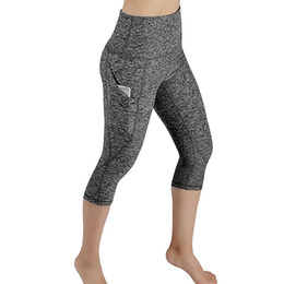 wearing yoga pants Australia - Women Workout Out Pocket Leggings Fitness Sports Gym Running Yoga Athletic Pants sports wear for women gym fitness clothing