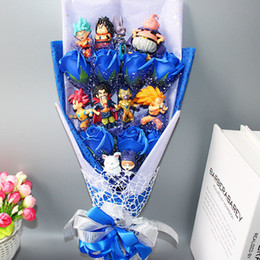 goku hot toy Australia - Hot Dragon Ball Z Model Toys Flower Bouquet No Box Goku Piccolo Gohan Chichi Master Dragon Ball Action Figure Toy Birthday Gift Y190529