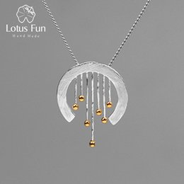 $enCountryForm.capitalKeyWord Australia - Lotus Fun Real 925 Sterling Silver Creative Handmade Fine Jewelry Oriental Element Vintage Curtain Pendant Without Necklace J190615