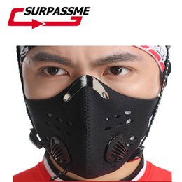 dust mask filters UK - Carbon Filter Half Face Mask Motorcycle Anti-dust Windproof Breathable Face Mask Outdoor Sports Racing Bicycle Motocross Riding