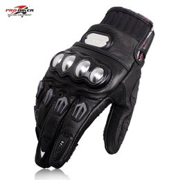 Full Finger Leather Motorcycle Gloves NZ - Hot sale PRO BIKER MCS-06 Motorcycle Gloves Full Finger Racing Motocross Gards Motorbike Protective Gear Motor Gloves Real Leather Gloves