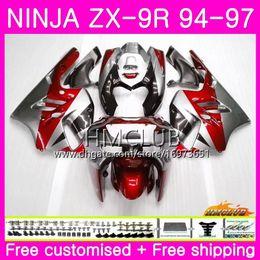 $enCountryForm.capitalKeyWord Australia - Bodys For KAWASAKI NINJA ZX 9R ZX900 ZX-9R 94 95 96 97 Kit 69HM.18 Sale Red silver ZX 9 R 94 97 900CC ZX9R 1994 1995 1996 1997 Full Fairing