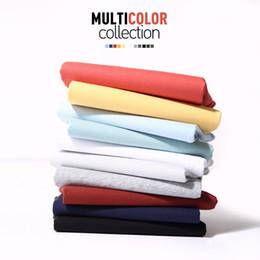 Blend Quality Clothing Australia - 2019 High Quality Fashion Mens T Shirts Casual Short Sleeve T-shirt Mens Solid Casual Cotton Tee Shirt Summer Clothing 5XL TX112