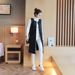 down vest women long NZ - White Duck Down Vest Women's Winter Coat Ultra Light Women Long Sleeveless Parka
