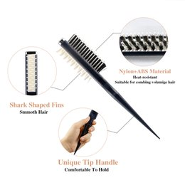 shark types NZ - Professional Instant Curly Hairstyle Fluffy Shark Back Comb Hair Styling Smooth Volumia Comb Hair Styling Comb