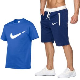 $enCountryForm.capitalKeyWord Australia - T Shirt+Shorts Sets Men Letter Printed Summer Suits Casual Tshirt Men Tracksuits Brand Clothing Streetwwar Tops Tees Set Male