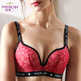 Wholesale Wire Free Non Sponge Slim Cup Lace Floral Bra Seamless Large Size Large Breasts Push Up Anti Sag Women underwear