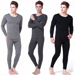 Wholesale long johns thermal underwear set for sale - Group buy Men s Thermal Underwear Sets Winter Warm Men s Underwear Men s Thick Thermal Underwear Long Johns