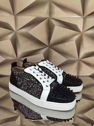 Toe waTer shoes for women online shopping - Designer Low Top Water Drill Spikes Sneakers Flats Red Bottom Shoes Spikes Shoes For Men Women Designer Sneakers With Box L14