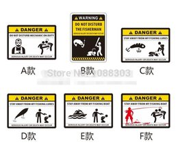 $enCountryForm.capitalKeyWord Australia - Funny Warning DANGER Fishing Sticker Personality Outdoor Fishing Car Sticker Fashion Hobby Motorcycle Decals Fish