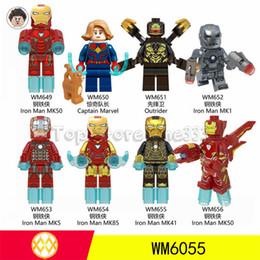 Iron Man Building Block Toys Australia - DHL Free shipping Marvel Avengers 4 New version of Iron Man Minifig Building Blocks Toys Kids Best Bricks ABS