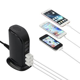 $enCountryForm.capitalKeyWord Australia - 6 usb cell phone charger sailing charger travel USB charger for samsung ipads iPhone 6 7 Plus With Retail Box