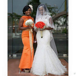 Full Length Robe Soiree NZ - Custom Made Nigerian South African Mermaid Wedding Dresses 2019 Full Lace Sheer Crew Neck Sexy Back Bridal Gowns Robe De Soiree