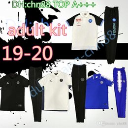 Air Pants Australia - real madrid ajax Naples polo shirt long pants 2019 2020 psg aJ soccer Tracksuit chandal futbol air jorDAM jogging kits soccer set