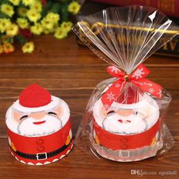 $enCountryForm.capitalKeyWord Australia - Christmas Gift Towel Christmas Tree Santa Claus Christmas Snowman 30x30cm White Green Red Cupcake Cotton Natal Noel