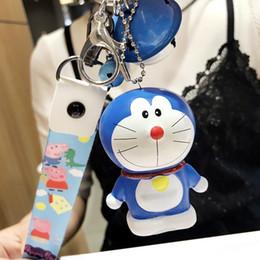 Keys Bell Australia - South Korea innovative plastic machine cat leather rope bell key chain car key pendant lady bag pendant