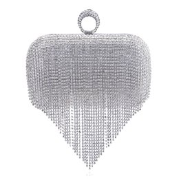 $enCountryForm.capitalKeyWord UK - Tassel Rhinestone Finger Ring Evening Bags Diamonds Wedding Handbags Women Day Clutch Mini Purse Bag With Chain Mixed Color 6J19