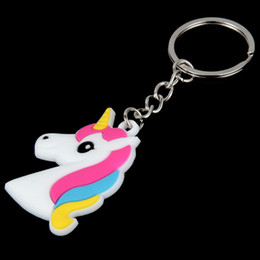 Cellphone Keys Australia - Hot Unicorn Keychain Keyring Cellphone Charms Handbag Pendant Kids Gift Toys Phone Decoration Accessory Horse Key Ring WCW60