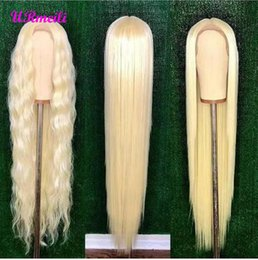 $enCountryForm.capitalKeyWord Australia - Glueless #613 Blonde Lace Front Human Hair Wigs Brazilian Straight Lace Frontal Wig Pre Plucked Honey Blonde Remy Full Lace Wigs