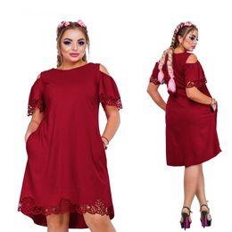 $enCountryForm.capitalKeyWord Australia - Designer New Women Dress Plus Size 6xl Vestidos Ladies Female Summer Dress V Neck Knee Length Dresses For Party Big Size
