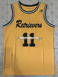 bb6cf7398 UMBC Retrievers 11 K.J.Maura Retro college Top stitched Sewn basketball  jerseys Customize any number and name XS-6XL vest Jerseys Ncaa