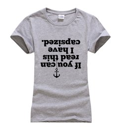 Read Top UK - Fashion-Women's Tee If You Can Read Capsized Letters Print Novelty T Shirt Women 2017 Summer Brand Tops Harajuku T Shirt Funny Tshirt