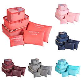Packing cubes online shopping - 6Pcs Zippered Travel Bag Mesh Storage Bag Travel Packing Cubes Set Organizer Closet Clothes Underwear Clothes Organizer Bags