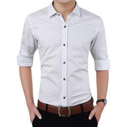 Dotted Shirts Australia - Brand Fashion Male Long-sleeves Tops Polka Dot Printing Mens Dress Shirts Slim Men Shirt Plus Size M-5xl Fgt Q190518
