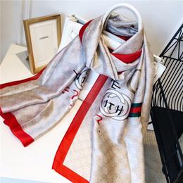$enCountryForm.capitalKeyWord Australia - High quality Woman Silk Scarf Square Scarf Shawl Wraps 180*90cm Hot Salesuper long shawl fashion Printed For Spring Summer Autumn with box