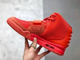 $enCountryForm.capitalKeyWord Australia - Best Quality Kanye West Air 2 SP SOLAR Red October Glow In The Dark Men Basketball Shoes Sports Sneakers With Original box
