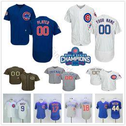 0a7705fba Custom Chicago Cubs  27 Addison Russell 5 Albert Almora Jr. 44 Anthony  Rizzo 54 Aroldis Chapman Men Women Kids Youth Baseball Jerseys