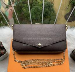 Donne Messenger Bag della borsa della borsa scatola originale 3 in 1 di alta qualità con il numero di serie codice della data in Offerta
