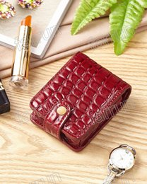 $enCountryForm.capitalKeyWord Australia - lipstick bag red black Crocodile pattern mini bag accept your logo print,Excellent workmanship with inner mirror portable cosmetic bag
