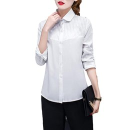 $enCountryForm.capitalKeyWord UK - 2019 casual women office shirts spring simple turn-down collar long sleeve patchwork shirts ladies white office clothing