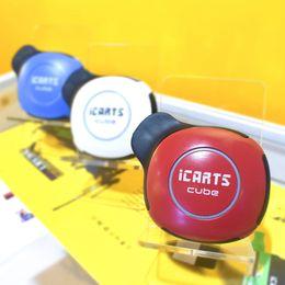 Hid Pen Australia - Original Icarts Cube Imini Vape Pen Starter Kits with 550mah Vape Battery Glass Cart 1.0ml Ceramic Coil Fully Hidden Cartridges 5Color DHL