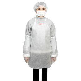 Dust Suits Australia - Disposable Apron Suit Sleeve Gloves Mask Hair Cap Disposable Waterproof Dust - Proof Suit White Plastic