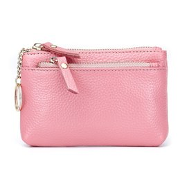 686cea2d0 Moxi Fashion Short Coin Wallets Genuine Leather Coin Purse For Womens Sweet Key  Ring Real Cowskin Ladies Clutch Bag