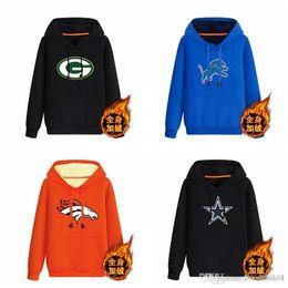 Windproof Cotton Australia - Green Bay Packers Detroit Lions Denver Broncos Dallas Cowboys black 70%cotton 30%polyester Cashmere Hoodie