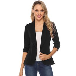 Discount office jackets for ladies - iClosam Office Ladies Coat Classic Spring Black Blazer Women's Jacket Elegant Solid Color Slim Suit For Mujer Femin