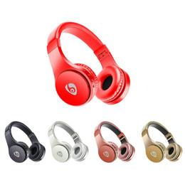 Wireless Headphones Headband Australia - S55 Wireless Bluetooth Headphones With Adjustable Headband Microphone Bluetooth Earphones Support TF Card With Retail Box PK Marshall