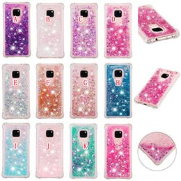 Soft Cell Phone Bling Cases Australia - Magic Liquid Quicksand Shockproof TPU Soft Case For Huawei Mate 20 Mate20 Pro Dynamic Flowing Bling Glitter Cell Phone Skin Cover 50pcs