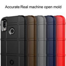 Shield Case Huawei Australia - Shield Armor Phone Case Cover Heavy soft Matte Silicon For Huawei P30 lite pro nova 4 honor V20 Y9 Y7 prime P smart 2019
