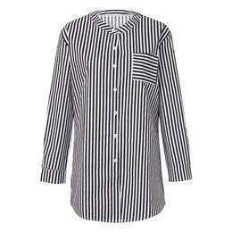 6ffc1cda02 Wholesale Kimonos UK - Fashion Women Lattice Striped Casual Tops Ladies  Loose Long Sleeve Top Blouse