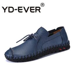 d8d9f297df794d Plus Size Herren Müßiggänger Leder Komfortable Sommer Schuhe Männer  Handgemachte Lace-Up Herren Freizeitschuhe Mokassin Homme