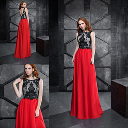 simple black mothers dresses Australia - Elegant A Line Black And Red Mother Of The Bride Dresses 2019 New Sleeveless Lace Wedding Guest Dress Floor Length Formal Evening Gowns