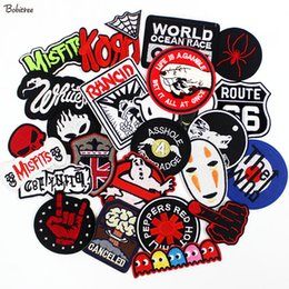 $enCountryForm.capitalKeyWord Australia - Metal Band Rock Music Ironing Patches Embroidered Badge Punk Hippie Clothes Stickers for clothes Jacket Jeans Applique